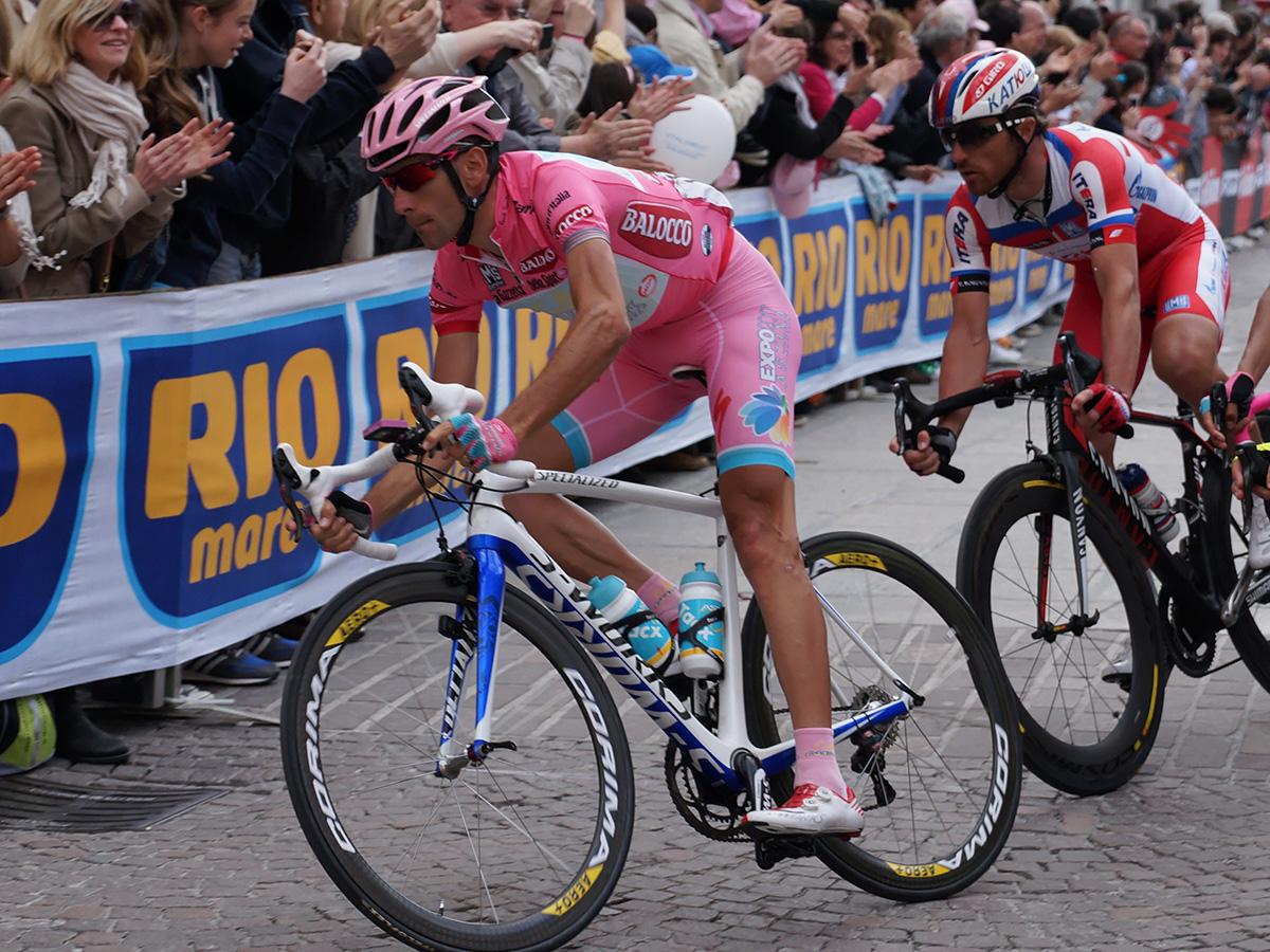 Scatto di Vincenzo Nibali durante il Giro D'Italia