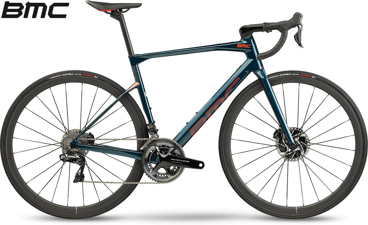 La nuova bici da corsa 2021 BMC Roadmachine 01 Two con cambio Shimano Dura-Ace Di2