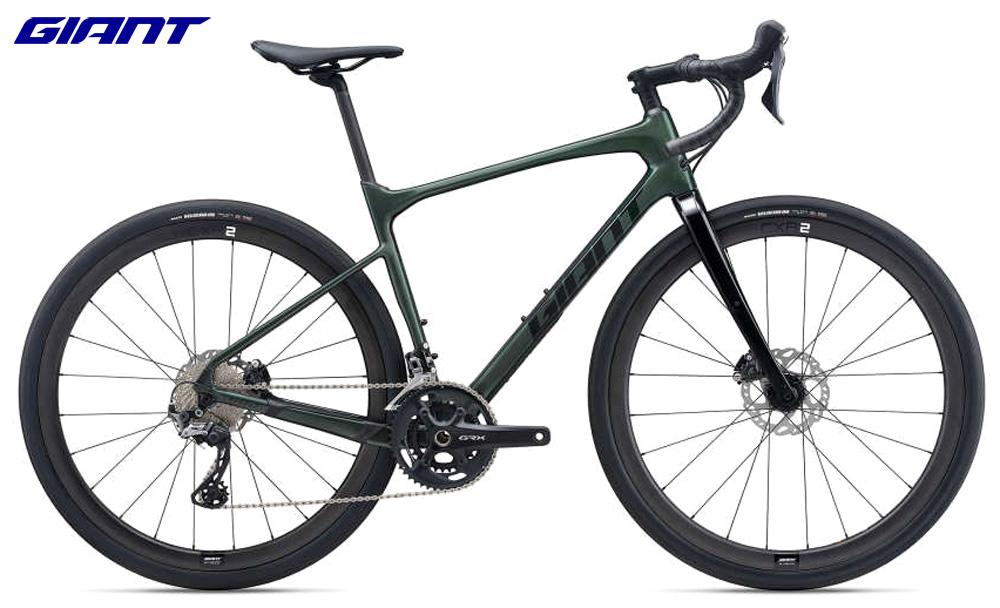 Una bici da gravel Giant Revolt Advanced O gamma 2021