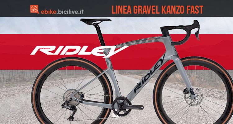 La nuova gamma di bici da gravel Ridley Kanzo Fast