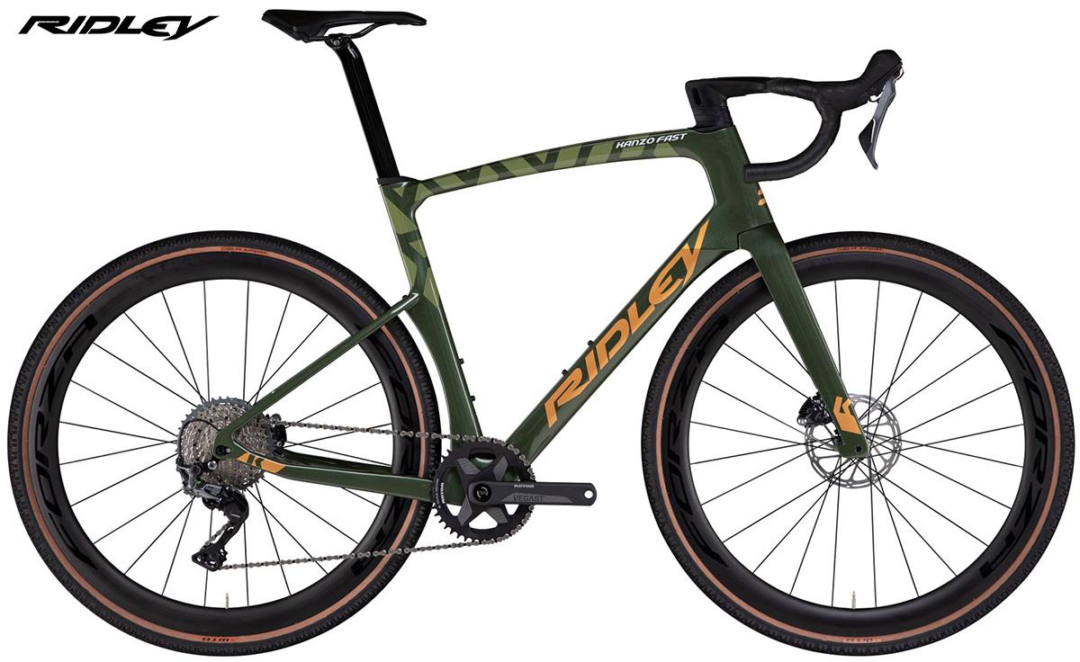 La nuova bici da gravel Ridley Kanzo Fast con allestimento Shimano GRX Di2