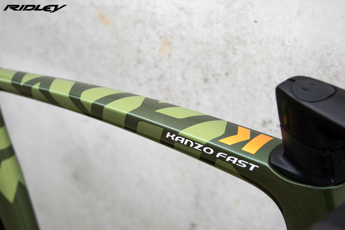 Dettaglio del telaio della nuova bici da gravel Ridley Kanzo Fast