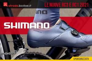 Le nuove scarpe per bici da corsa Shimano RC1 e Shimano RC3 2021