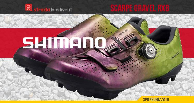 Shimano RX8 2021: nuove scarpe per biciclette gravel