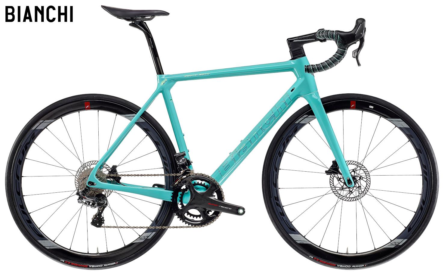Una bici Bianchi Specialissima Disc Campagnolo Super Record EPS 2021