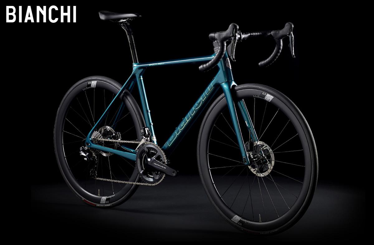 Una bicicletta Bianchi Specialissima Disc 2021