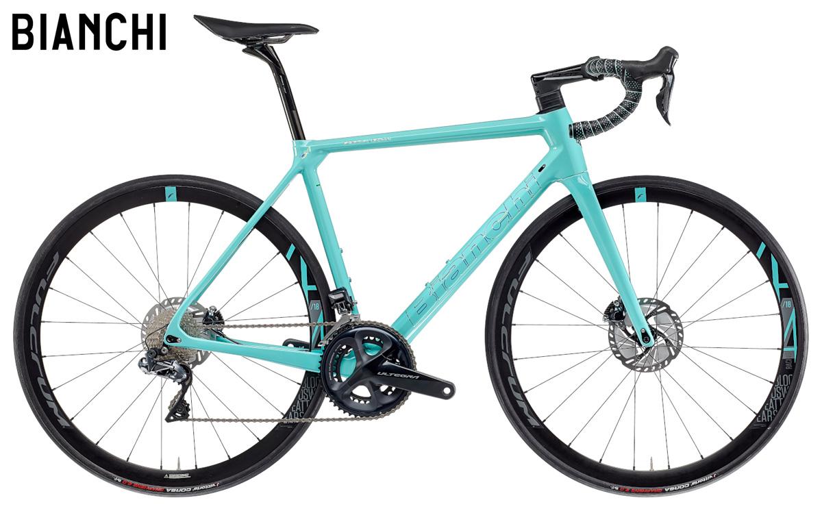 Una bicicletta Bianchi Specialissima Disc Ultegra Di2 2021