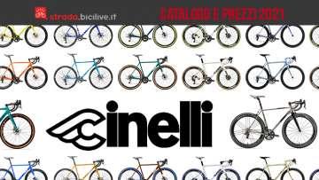 Il catalogo il listino prezzi della nuova gamma di bici da corsa Cinelli 2021