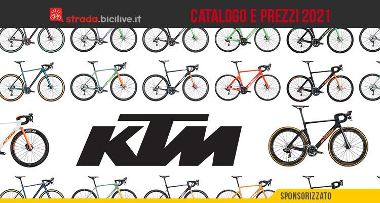 Il listino prezzi della nuova gamma 2021 di bici da corsa e gravel KTM