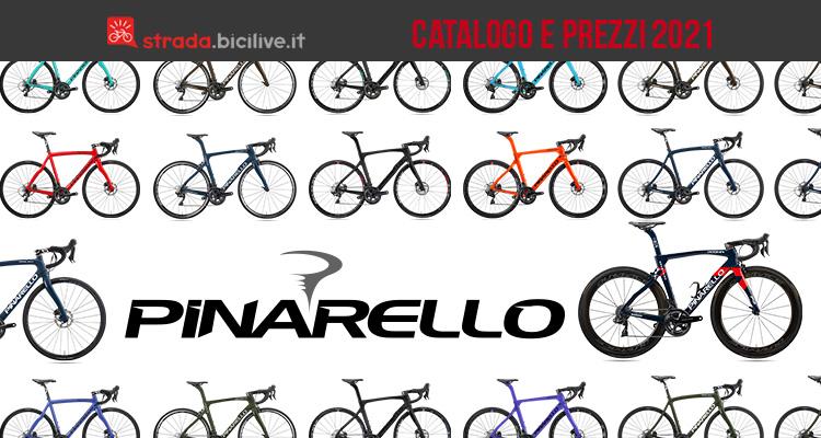 Il listino della gamma Pinarello 2021 di bici da corsa stradali e gravel