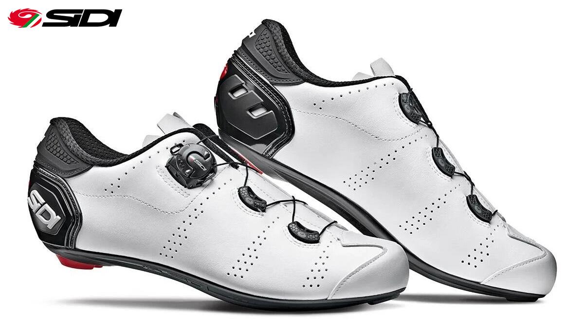 Le nuove scarpe per bici da strada Sidi Fast in colorazione bianca