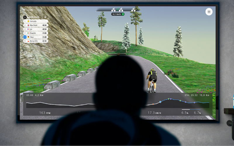 simulatore software per allenamento ciclistico indoor Bkool
