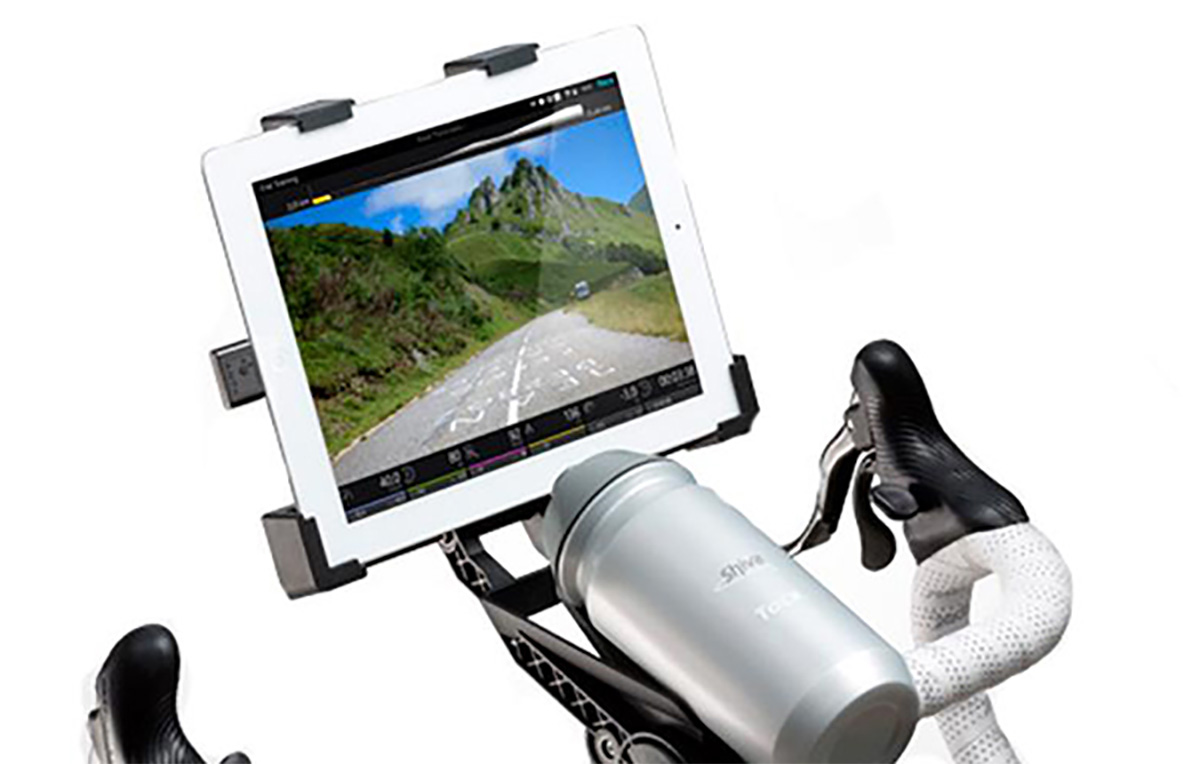 Supporto tablet per l'allenamento ciclistico indoor