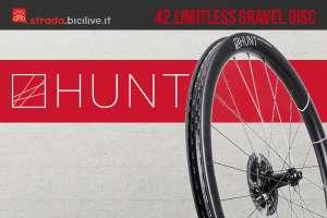 Le nuove ruote per bici da corsa Hunt 42 Limitless Gravel Disc 2021