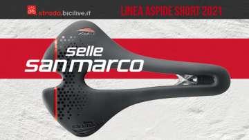 Selle San Marco Aspide Short 2021: sella corta bici da corsa