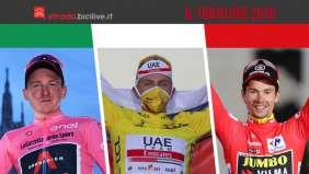 Le bici da corsa italiane vincono i tre Grandi Giri del 2020
