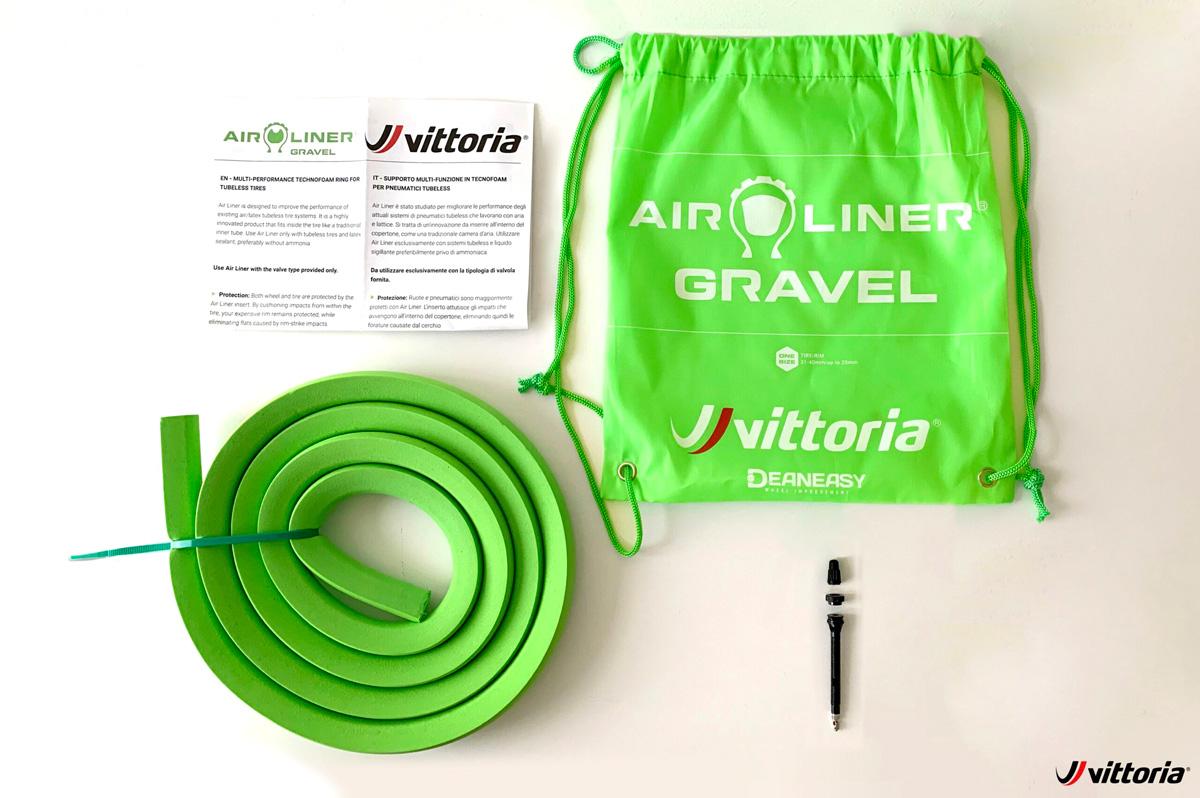 Tutto il contenuto della confezione Vittoria Air-Liner Gravel