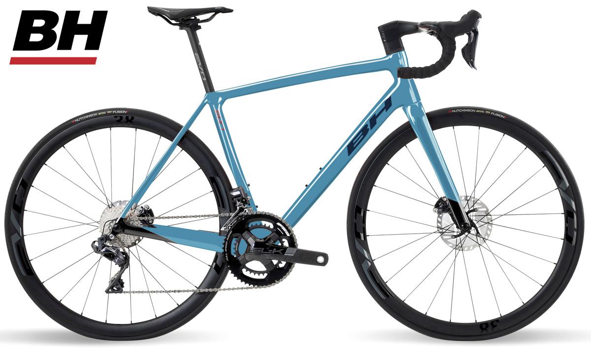 Una bici in carbonio BH Ultralight EVO Disc 8.5 con deragliatore posteriore Shimano Ultegra Di2