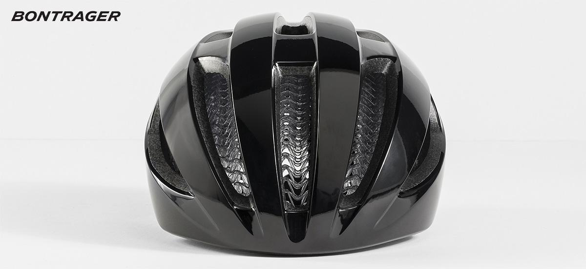 Visione frontale del nuovo casco da bici Bontrager Starvos Wavecel 2021