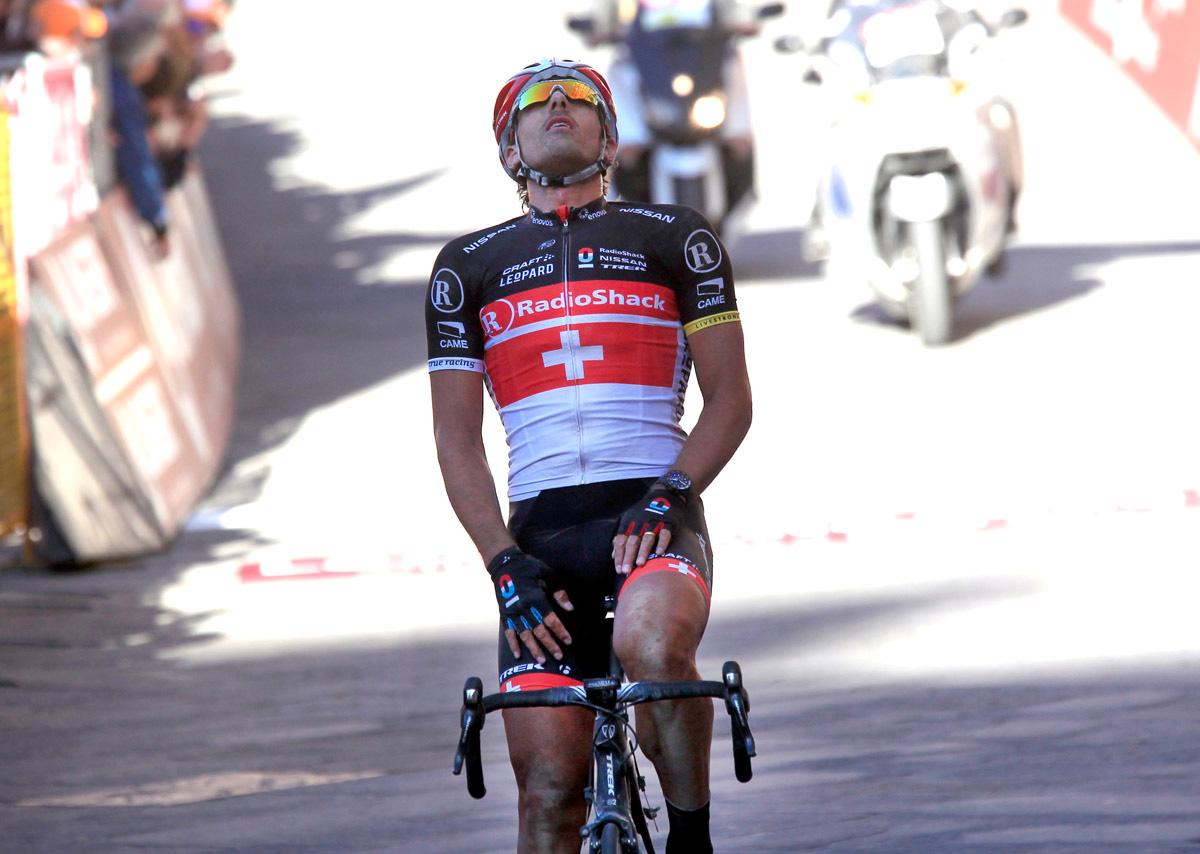 Fabian Cancellara vincitore dell'edizione 2012 delle Strade Bianche