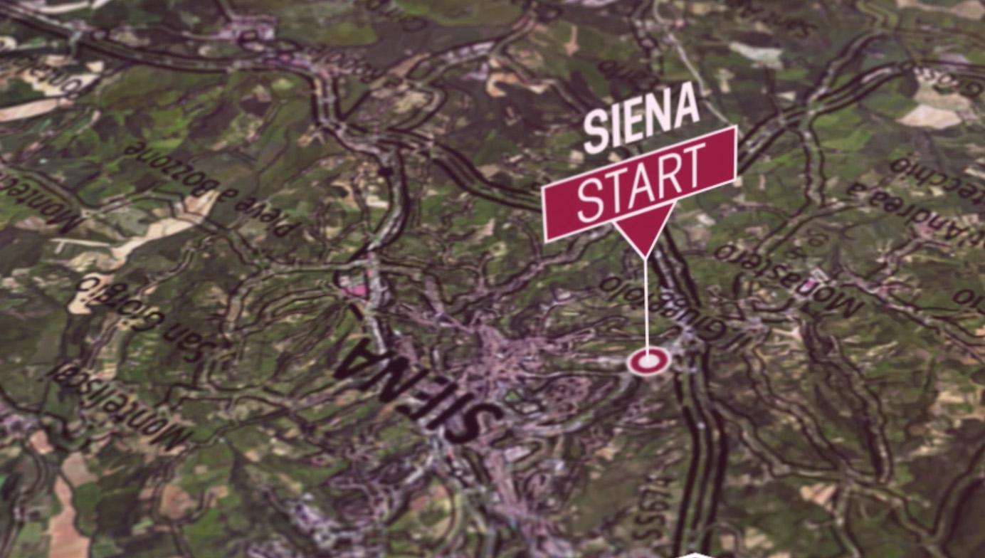 La corsa Strade Bianche parte come da tradizione dalla città di Siena