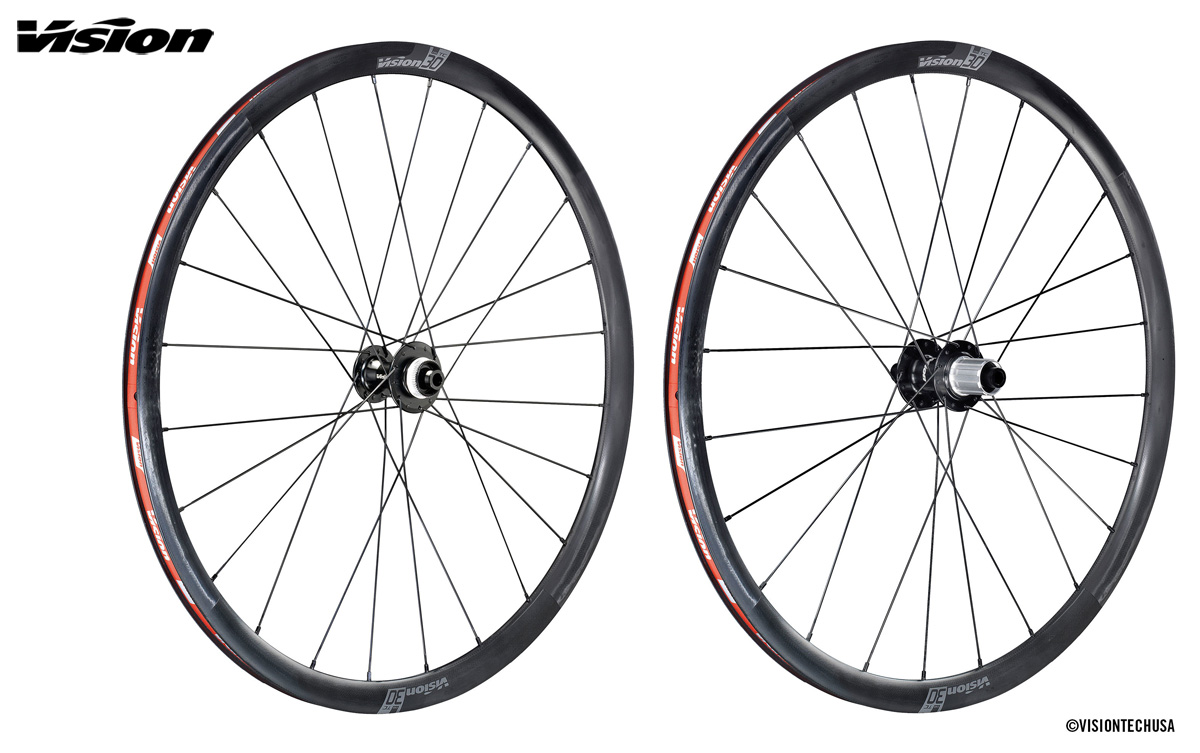 Le ruote per bici da corsa in carbonio Vision TC Disc 30