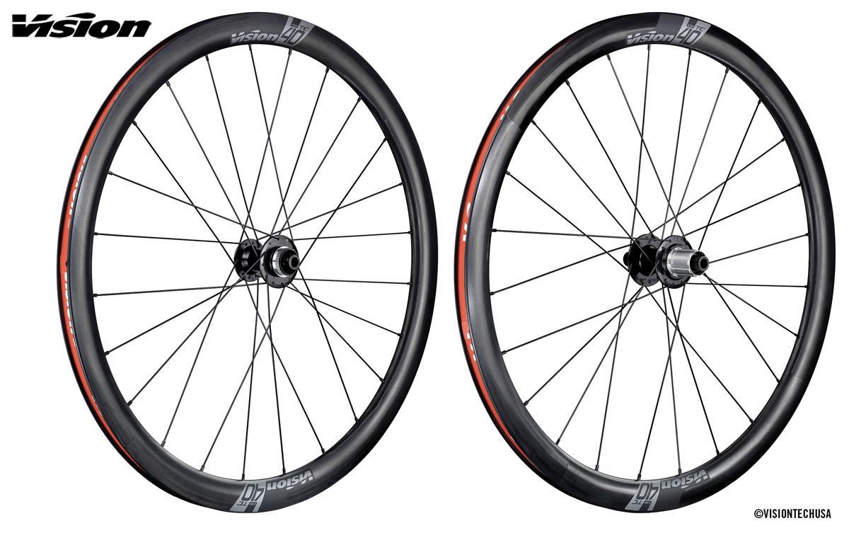 Le ruote per bici da corsa in carbonio Vision TC Disc 40