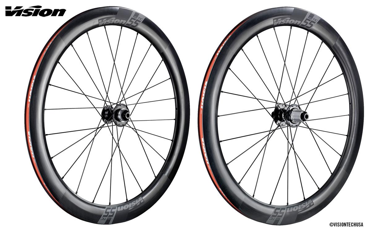 Le ruote per bici da corsa in carbonio Vision TC Disc 55