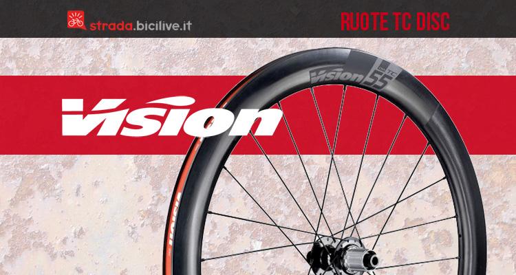 Vision TC Disc 55, 40, 30: ruote in carbonio bici da corsa