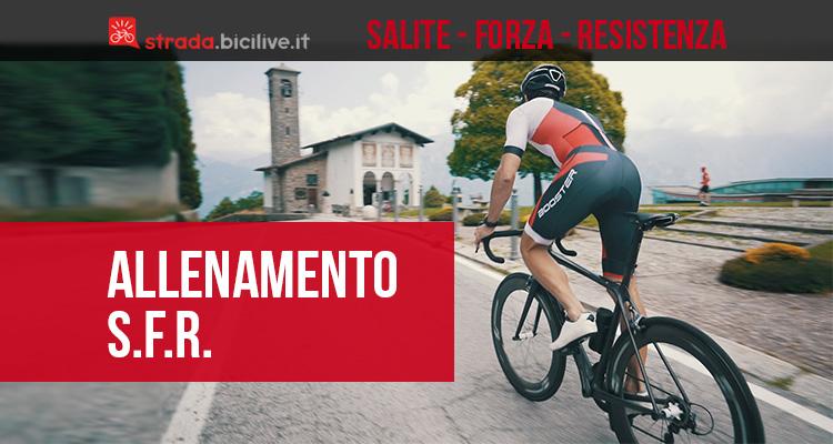 La guida all'allenamento Salita Forza Resistenza in bici