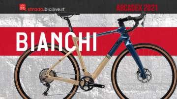 Bianchi Arcadex 2021: bici gravel telaio in carbonio