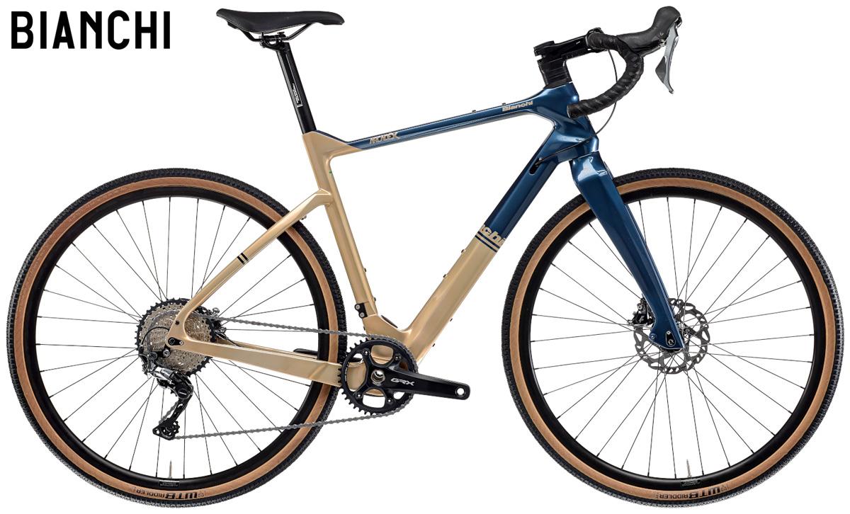 Una bici gravel Bianchi Arcadex GRX 810 gamma 2021