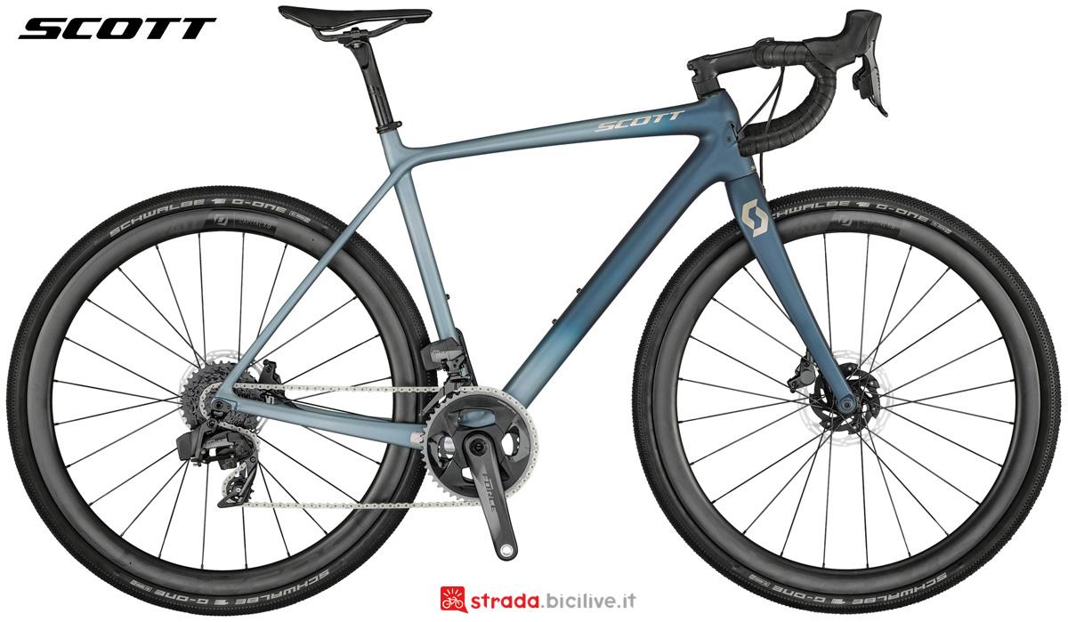 Una bici da gravel Scott Addict Gravel 10 gamma 2021