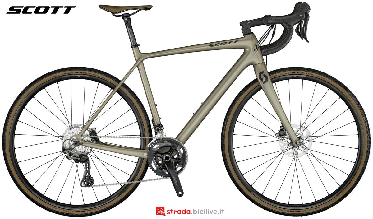 Una bicicletta da gravel Scott Addict Gravel 20