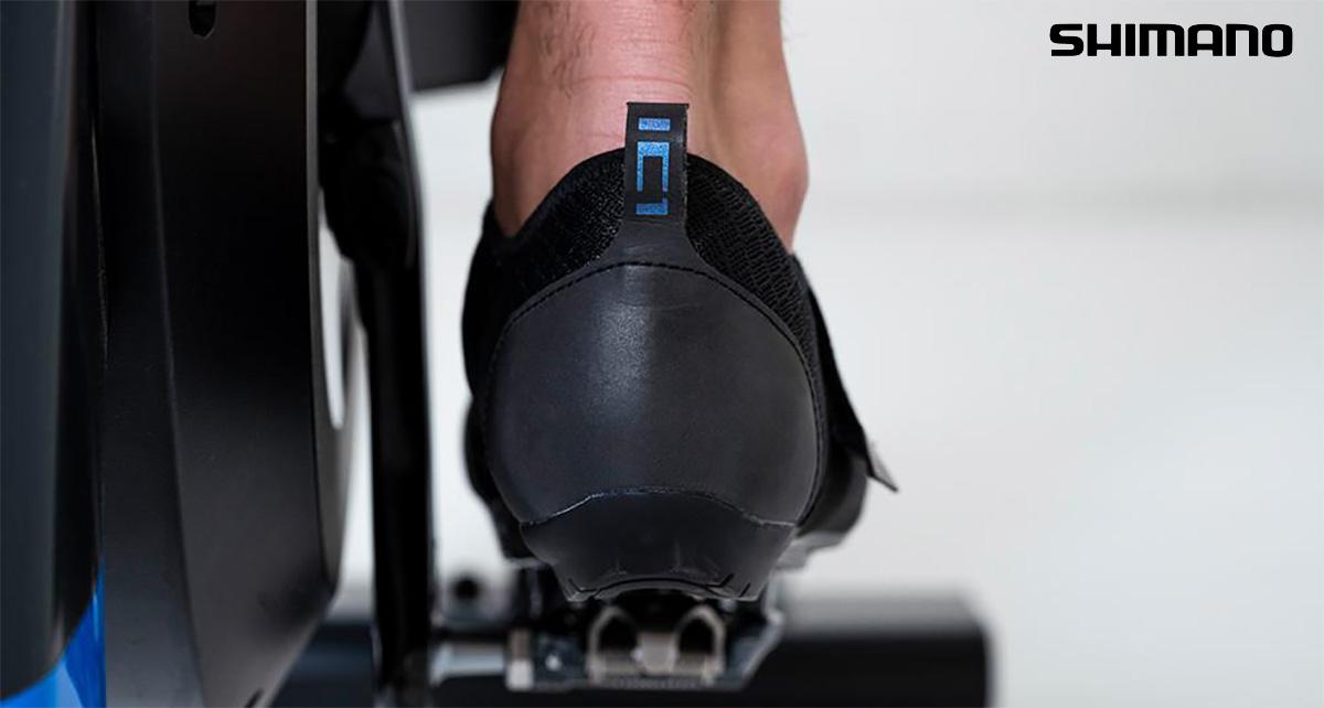La scarpa per pedalare in casa Shimano IC1 2021 vista dal retro