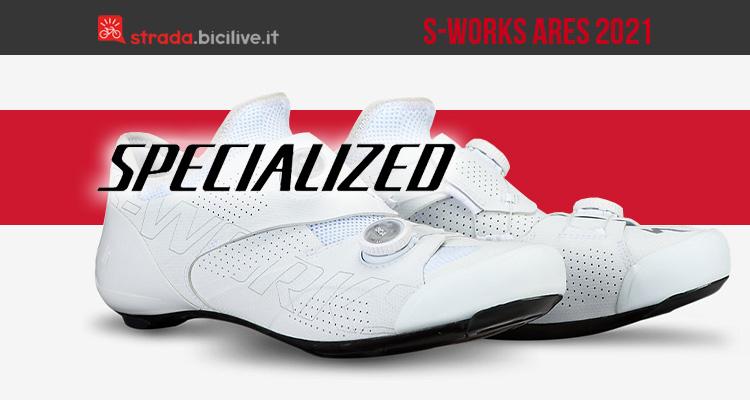 Le nuove scarpe per bici da strada Specialized S-works Ares 2021