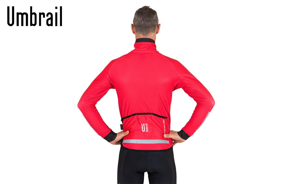 Vista posteriore della nuova giacca da ciclismo invernale Umbrail De Rubertis