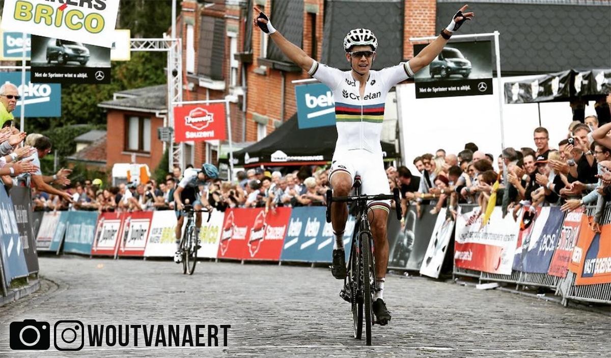 Wout Van Aert alla fine di una corsa
