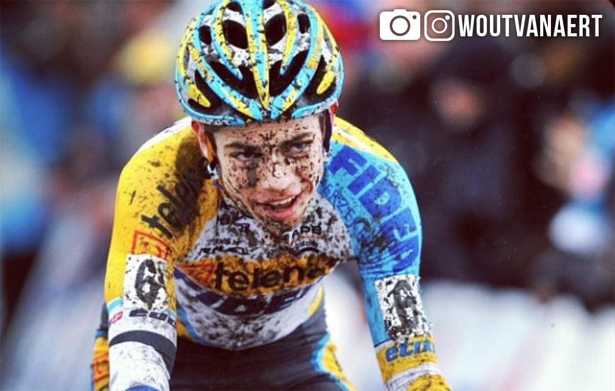Wout Van Aert durante una gara di ciclocross