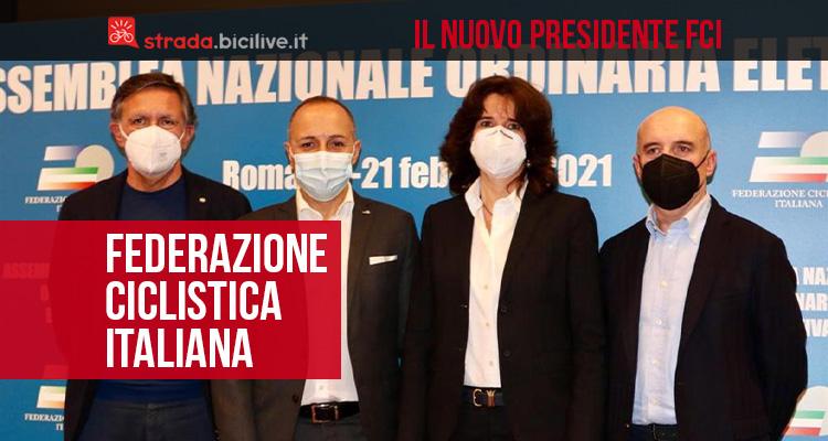 Il nuovo presidente della FCI Federazione Ciclistica Italiana