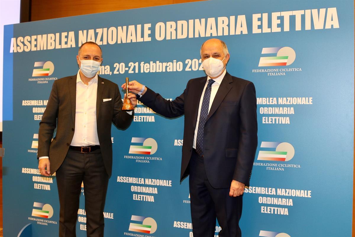 Il presidente Cordiano Dagnoni insieme all'ex presidente Renato di Rocco