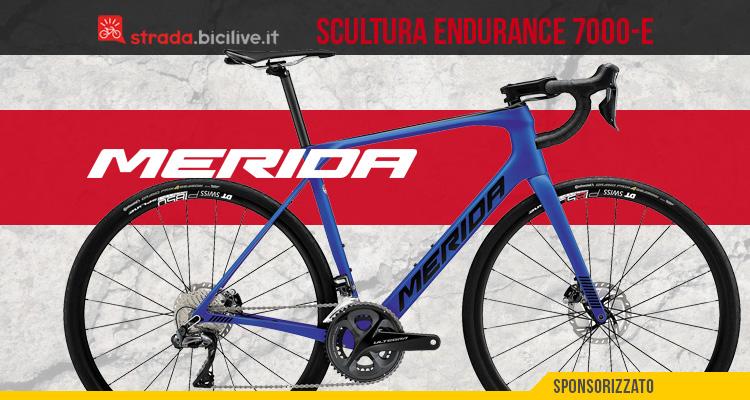 Merida Scultura Endurance 7000-E 2021: bici confortevole
