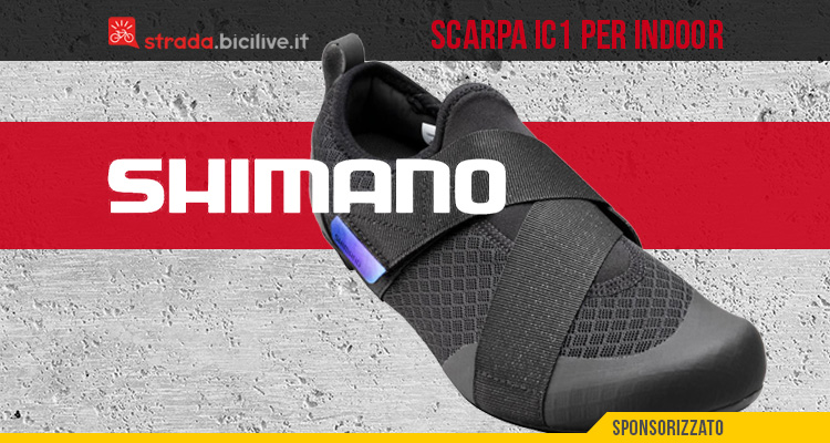 Le nuove scarpe per l'allenamento ciclistico indoor Shimano IC1 2021