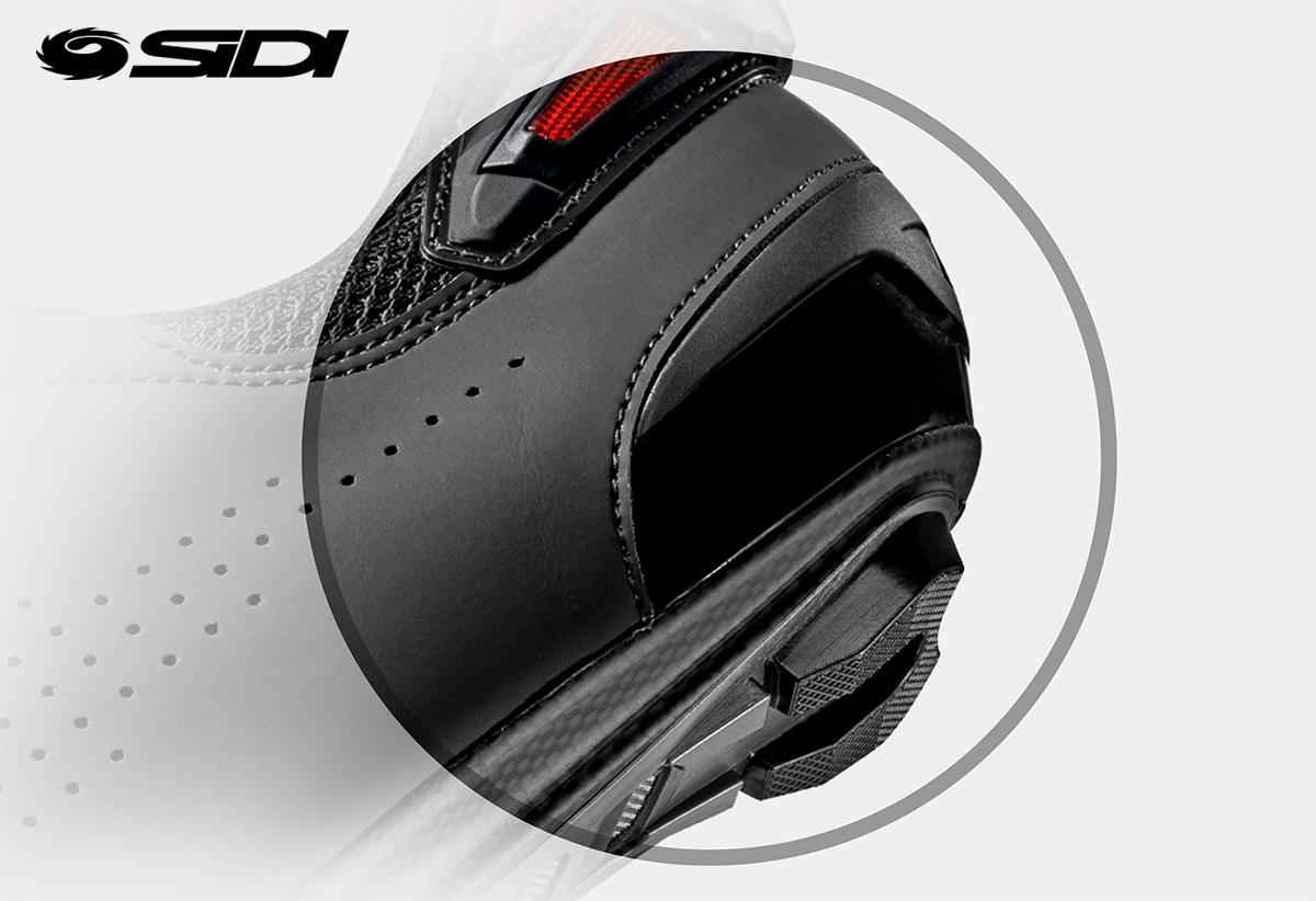 Dettaglio del tallone della nuova scarpa per bici stradale Sidi Shot 2 2021