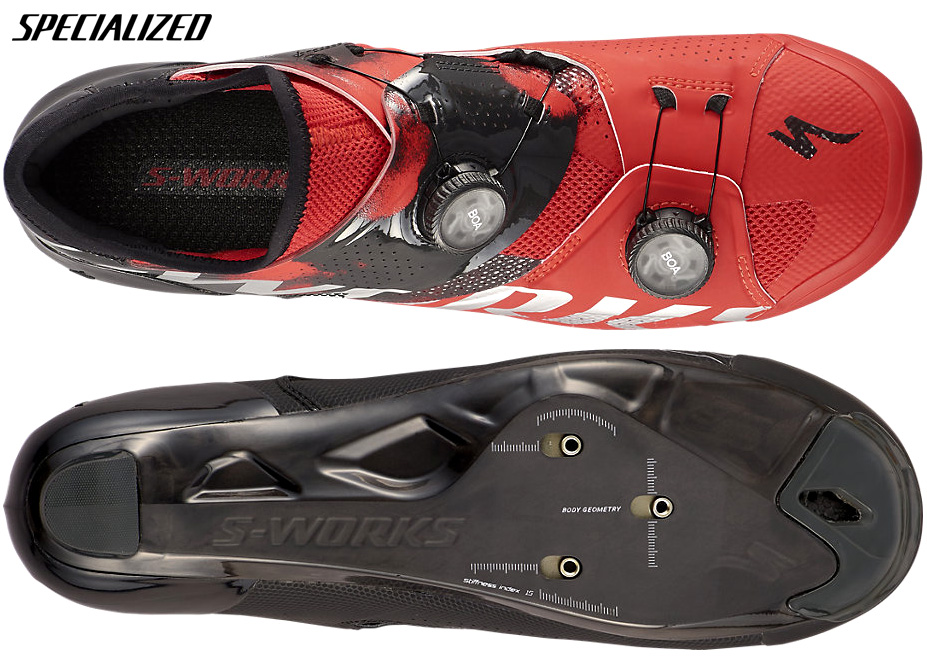 La nuova scarpa per bdc Specialized S-works Ares 2021 vista superiore e inferiore