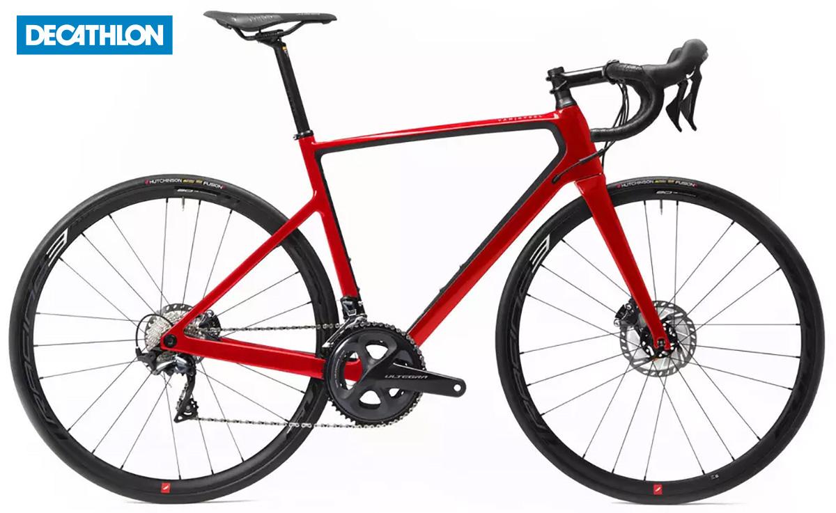 La Decathlon Van Rysel EDR CF Ultegra in colorazione rossa
