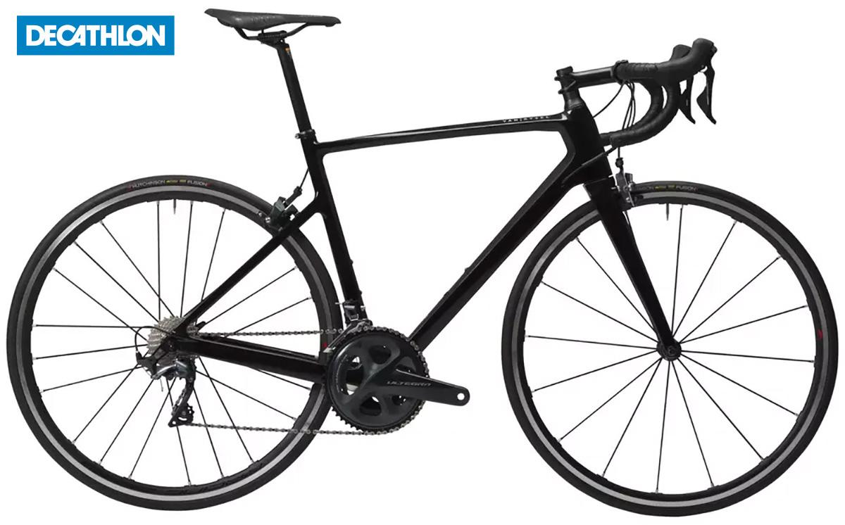 La Decathlon Van Rysel EDR 920 CF Ultegra in colorazione nera