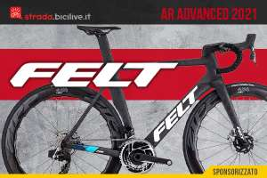 Felt AR Advanced 2021: bici da corsa aerodinamica