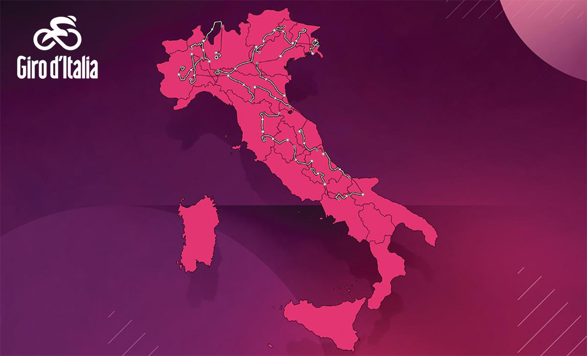 La mappa del percorso del Giro D'Italia 2021