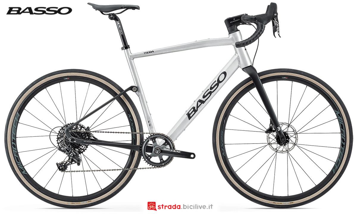 La nuova bici da gravel Basso Bikes Tera 2021 vista lateralmente